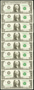 Fr. 1917-F $1 1988A Web Federal Reserve Notes. Nine Examples. Choice Crisp Uncirculated. ... (Total: 9 notes)