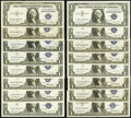 $1 Silver Certificates 1935-1957B Sixteen Examples Very Fine-Extremely Fine or Better. ... (Total: 16 notes)
