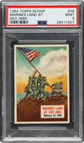 """Non-Sport Cards:Singles (Post-1950), 1954 Topps Scoop """"Marines Land at Iwo Jima"""" #36 PSA Mint 9 - Pop One, None Higher! ..."""