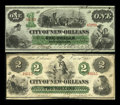 Obsoletes By State:Louisiana, New Orleans, LA- City of New Orleans $1, $2 Oct. 24, 1862. ... (Total: 2 notes)