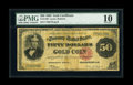 Large Size:Gold Certificates, Fr. 1193 $50 1882 Gold Certificate PMG Very Good 10....