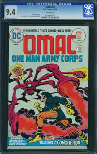 OMAC #4 (DC, 1975) CGC NM 9.4 White pages