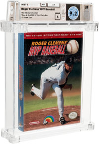 Roger Clemens' MVP Baseball [Oval SOQ TM] - Indiana Collection Wata 9.2 A Sealed NES LJN 1991 USA