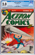 Golden Age (1938-1955):Superhero, Action Comics #19 (DC, 1939) CGC GD 2.0 Off-white to white pages....