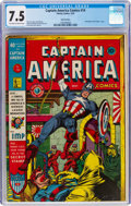 Golden Age (1938-1955):Superhero, Captain America Comics #14 San Francisco Pedigree (Timely, 1942) CGC VF- 7.5 Off-white to white pages....