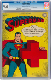 Superman #34 (DC, 1945) CGC NM 9.4 Off-white to white pages