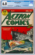 Golden Age (1938-1955):Superhero, Action Comics #11 (DC, 1939) CGC FN 6.0 Cream to off-white pages....