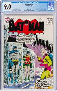 Batman #121 (DC, 1959) CGC VF/NM 9.0 Off-white to white pages