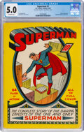 Golden Age (1938-1955):Superhero, Superman #1 (DC, 1939) CGC VG/FN 5.0 Off-white pages....