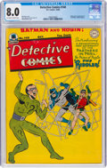 Golden Age (1938-1955):Superhero, Detective Comics #140 (DC, 1948) CGC VF 8.0 Off-white to white pages....