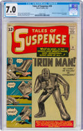 Silver Age (1956-1969):Superhero, Tales of Suspense #39 (Marvel, 1963) CGC FN/VF 7.0 Off-white to white pages....