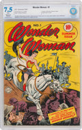 Golden Age (1938-1955):Superhero, Wonder Woman #1 (DC, 1942) CBCS Restored VF- 7.5 Moderate (A) White pages....