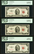 Fr. 1510 $2 1953A Legal Tender Note PCGS Gem New 65PPQ; Fr. 1510 $2 1953A Legal Tender Notes (2) PCGS Very Choice New 64...