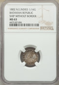 Netherlands East Indies:Dutch Colony, Netherlands East Indies: Dutch Colony. Batavian Republic 1/16 Gulden 1802 MS63 Red NGC,...