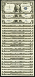 Fr. 1615 $1 1935F Silver Certificate. Very Fine-Extremely Fine; Fr. 1619 $1 1957 Silver Certificates. Twelve Examples. V...