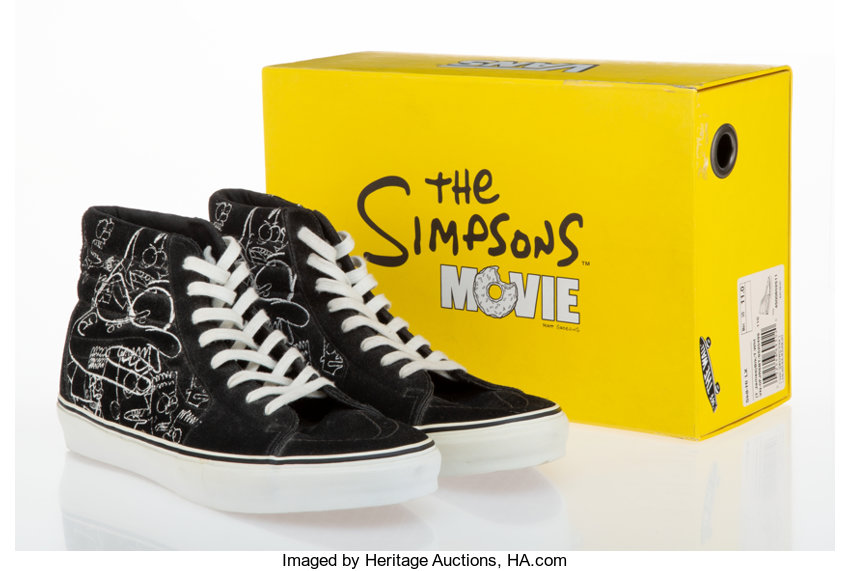 Todd James X The Simpsons X Vans The Simpsons Movie Sk8 Hi Lx Lot 43101 Heritage Auctions