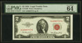 Fr. 1509 $2 1953 Legal Tender Notes. Three Examples. Very Fine to PMG Choice Uncirculated 64 EPQ; Fr. 1510 $2 1953A Lega...