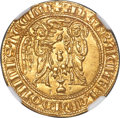 Italy, Italy: Naples & Sicily. Charles II d'Anjou gold Saluto d'Oro ND (1285-1309) MS66 NGC,...