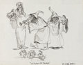 Animation Art:Concept Art, The Black Cauldron Witches of Morva Concept Art by Mel Shaw (Walt Disney, 1985)....