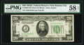 Fr. 2058-J $20 1934D Wide Federal Reserve Note. PMG Choice About Unc 58 EPQ