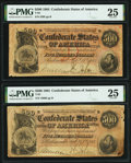 T64 $500 1864 PMG Very Fine 25. PF-1 Cr. 489A, corner tear at lower left; PF-2 Cr. 489, stained at lower right. ... (Tot...