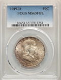 Franklin Half Dollars, 1949-D 50C MS65 Full Bell Lines PCGS. PCGS Population: (891/107). NGC Census: (233/9). CDN: $200 Whsle. Bid for NGC/PCGS MS...