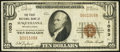 National Bank Notes:Pennsylvania, Susquehanna, PA - $10 1929 Ty. 1 The First National Bank Ch. # 1053 Fine-Very Fine.. ...