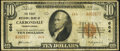 National Bank Notes:Pennsylvania, Carbondale, PA - $10 1929 Ty. 2 The First National Bank Ch. # 664 Very Good-Fine.. ...