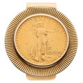 Estate Jewelry:Other, U.S. $20 Gold Coin, Gold Money Clip The 14k go...