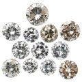 Unmounted Diamonds ... (Total: 12 Items)