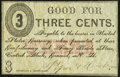 Obsoletes By State:New Hampshire, Concord, NH- Piper & Haskins 3¢ ND (ca. 1860s) Very Fine.. ...