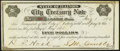 Litchfield, IL- City Treasury Note $5 Aug. 1, 1874 About Uncirculated