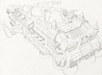 """Jack Kirby Space Stars - Space Stars Finale """"The Outworlder"""" Animation Concept Original Art (Hanna-Barbera, 19..."""