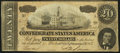 Confederate Notes:1864 Issues, T67 $20 1864 with Poem on Back Very Fine.. ...