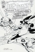 Original Comic Art:Covers, Nick Cardy and Dave Gibbons Silver Age: Teen Titans #1 Cover Original Art (DC, 2000)....