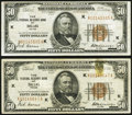 Fr. 1880-K $50 1929 Federal Reserve Bank Notes. Two Examples. Very Fine. ... (Total: 2 notes)