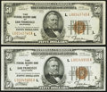 Fr. 1880-L $50 1929 Federal Reserve Bank Notes. Two Examples. Very Fine-Extremely Fine or Better. ... (Total: 2 notes)