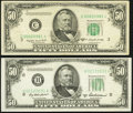 Fr. 2109-H $50 1950B Federal Reserve Note. About Uncirculated; Fr. 2110-C* $50 1950C Federal Reserve Note. Very Fine...