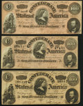 T65 $100 1864 Three Examples Very Fine or Better. ... (Total: 3 notes)