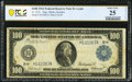 Fr. 1112 $100 1914 Federal Reserve Note PCGS Banknote Very Fine 25 Details
