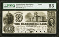 Harrisburg, PA- Harrisburg Bank $20 18__ G56 as Hoober 148-26 Proof PMG About Uncirculated 53