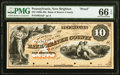 New Brighton, PA- Bank of Beaver County $10 18__ G4a as Hoober 265-5 Proof PMG Gem Uncirculated 66 EPQ