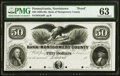 Norristown, PA- Bank of Montgomery County $50 18__ G56 as Hoober 281-10 Proof PMG Choice Uncirculated 63