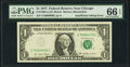 Insufficient Inking of Black Portion of Third Printing Error Fr. 1909-G $1 1977 Federal Reserve Note. PMG Gem Uncirculat...