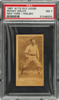 """Baseball Cards:Singles (Pre-1930), 1887-90 N172 Old Judge """"Smiling Mickey"""" Welch (Welsh) (#486-2) PSA NM 7. ..."""