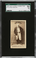 Baseball Cards:Singles (Pre-1930), 1887-90 N172 Old Judge Pud Galvin (#177-2) SGC 84 NM 7 - Pop One, None Higher. ...