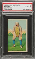 Baseball Cards:Singles (Pre-1930), 1887 N284 Buchner Gold Coin King Kelly (Catching) PSA EX-MT 6. ...