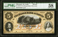 St. Louis, MO- Exchange Bank of St. Louis $5 18__ G38a Proof PMG Choice About Uncirculated 58
