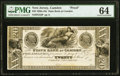Camden, NJ- State Bank at Camden $20 18__ G52 as Wait 357 Proof PMG Choice Uncirculated 64