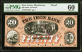 Morristown, NJ- Iron Bank $20 18__ G30a Wait 1214 Proof PMG Uncirculated 60